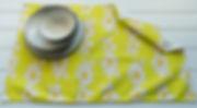 Anemone Flowers Lime Tea Towel.jpg