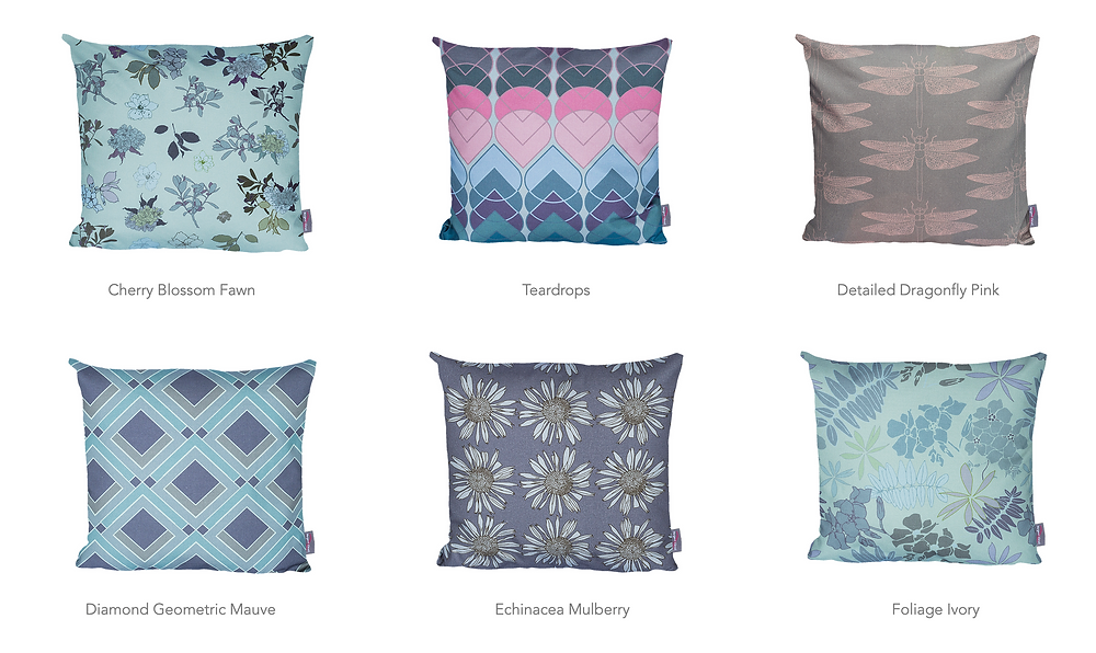 Cushions on Margaret Clavell Designs's website