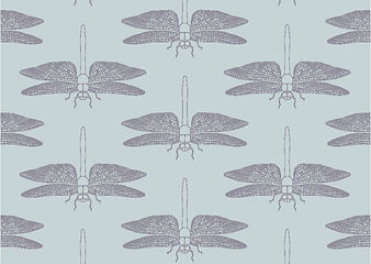 Detailed Dragonfly Duck Egg greeting card