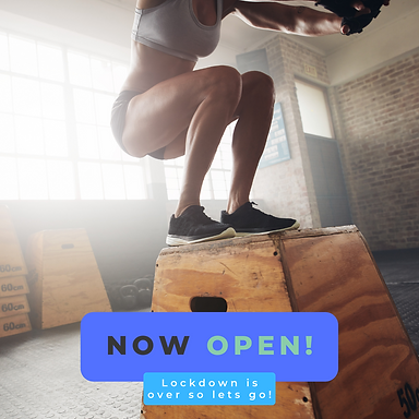 Now Open Fitness Instagram Post with Wom