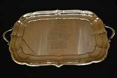 trophy-0blong engraved silver tray[memor