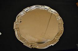 trophy-round silver tray[membership awar