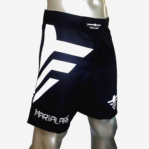 "FightShort MMA Black ""B&W Edition"""