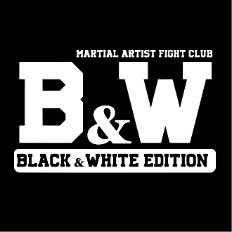 black white martial artist fightwear fra