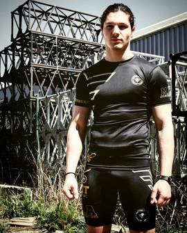 martial artist rashguard short mma compr