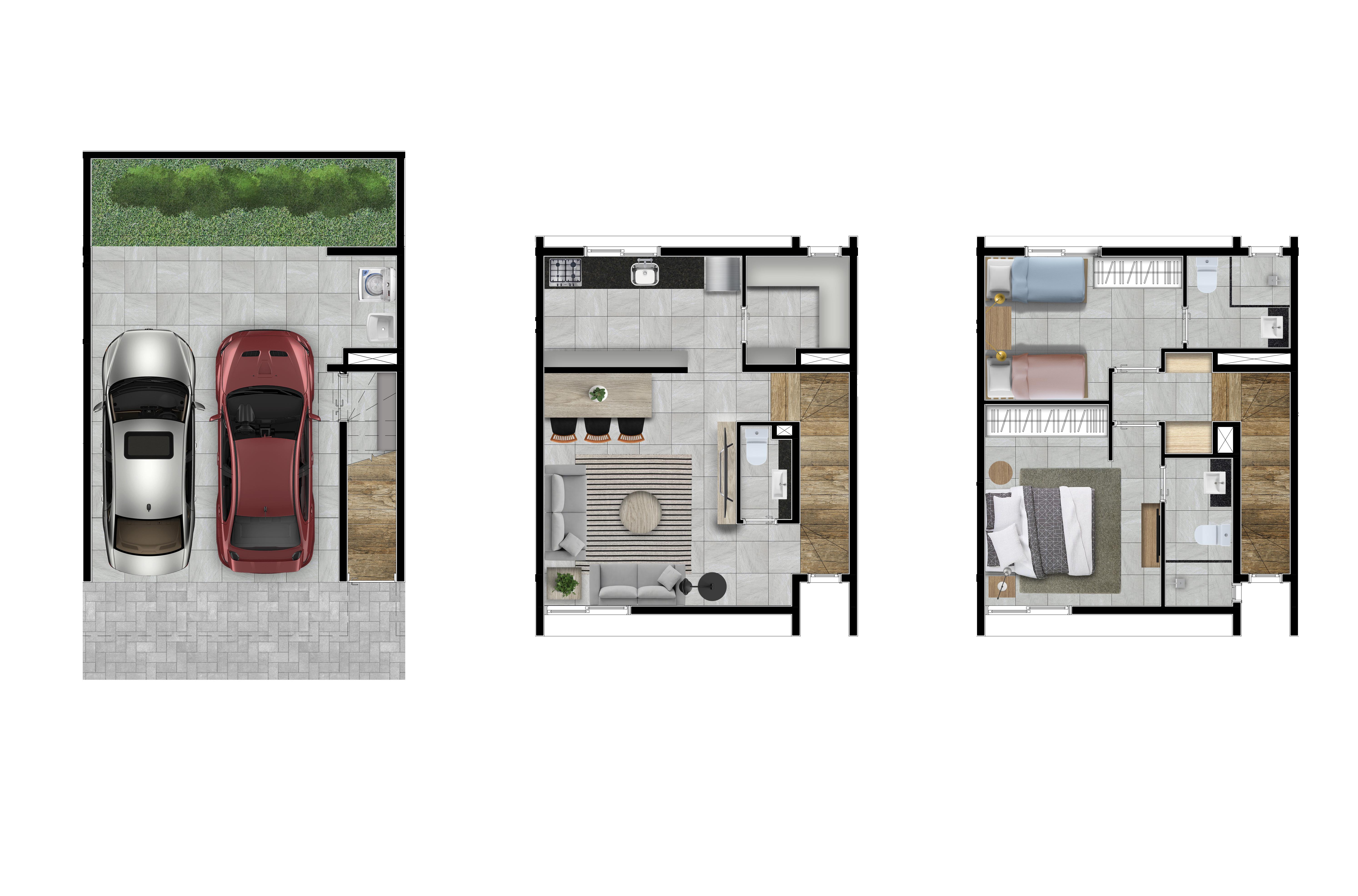 Casas 3,6 e 7 - 134m2