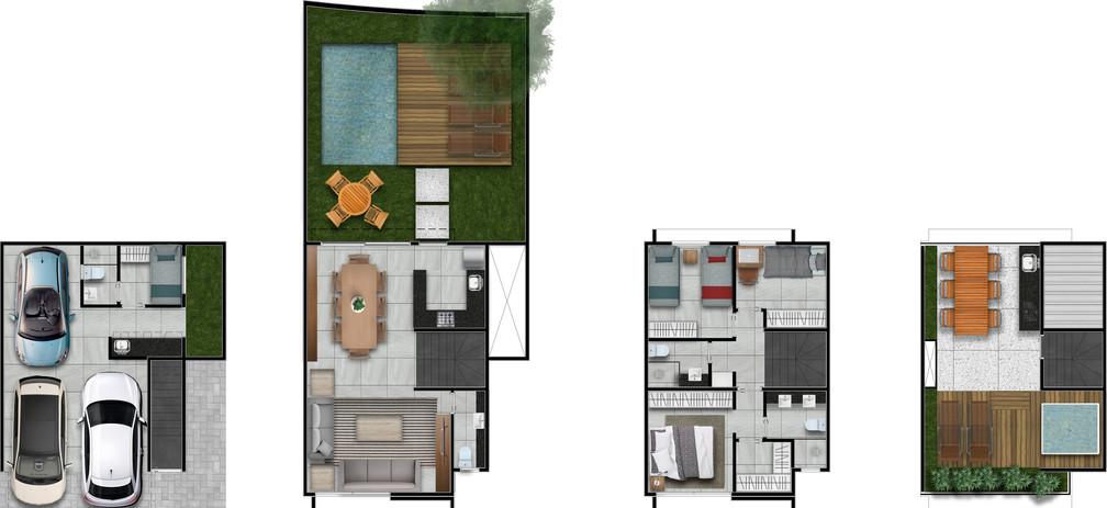 Casas 260m2