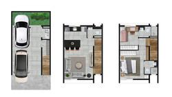 Casas 2,4,5 e 8 - 112m2