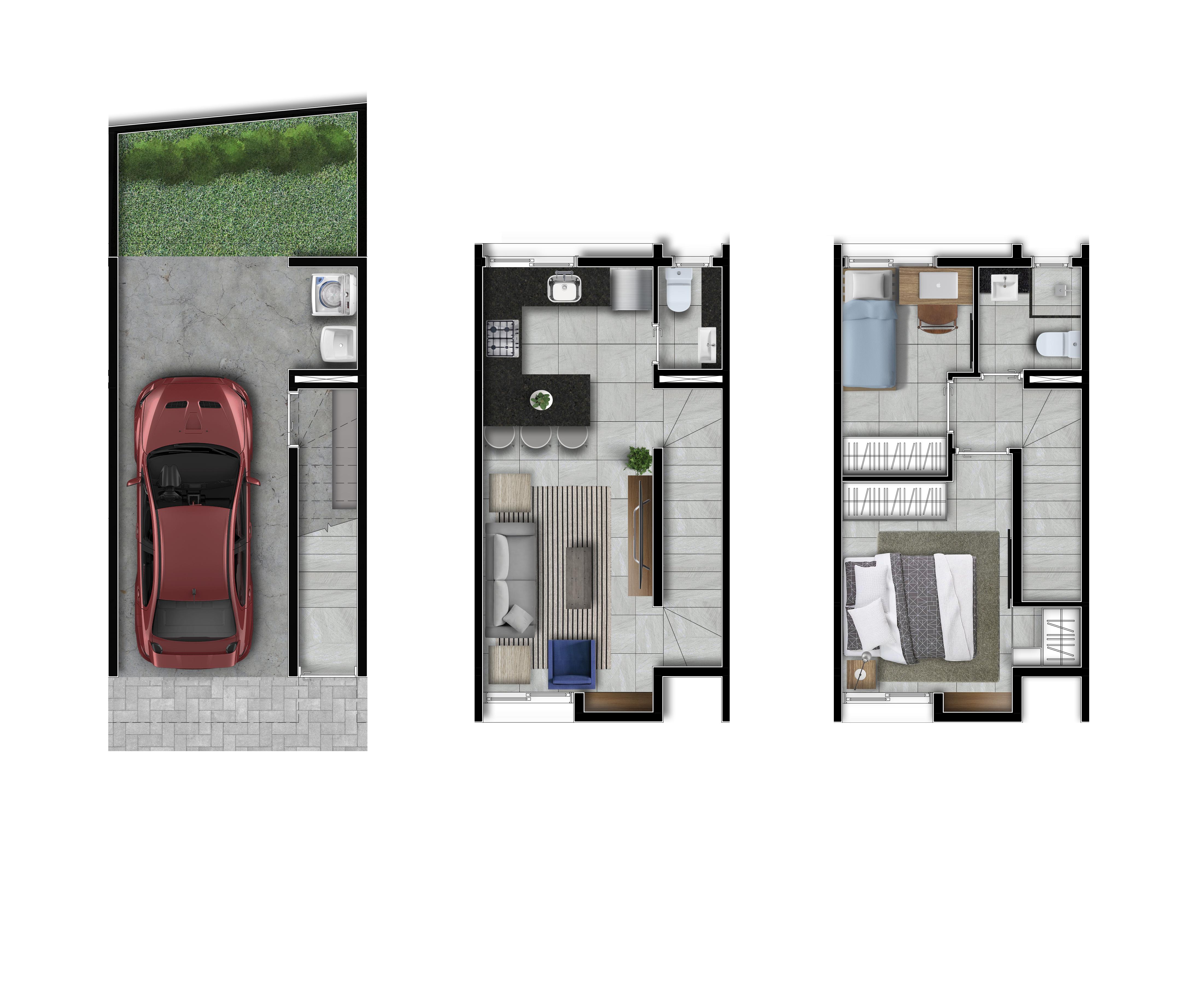 Casas 2 e 3 - 95m2