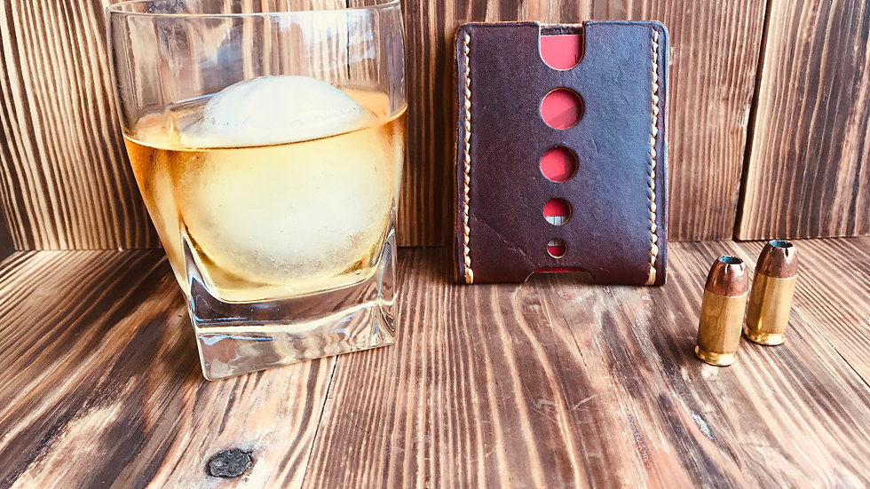 Minimalist leather card wallet
