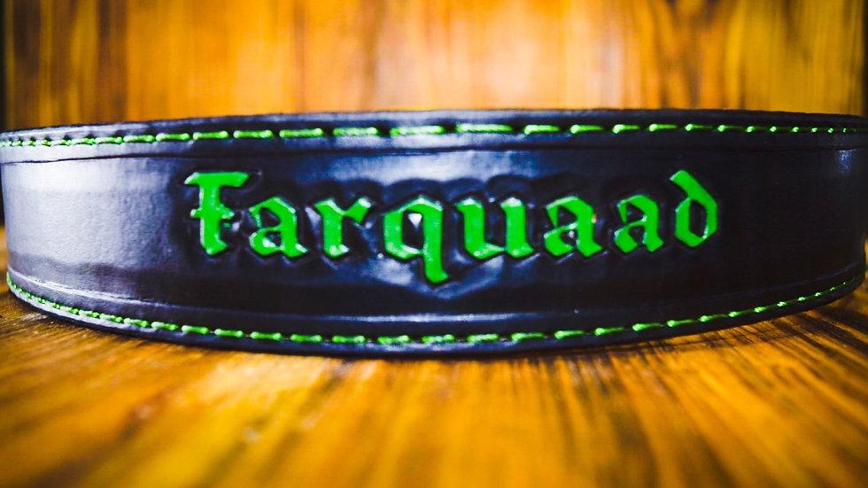 Club belt w/ handmade brass buckle