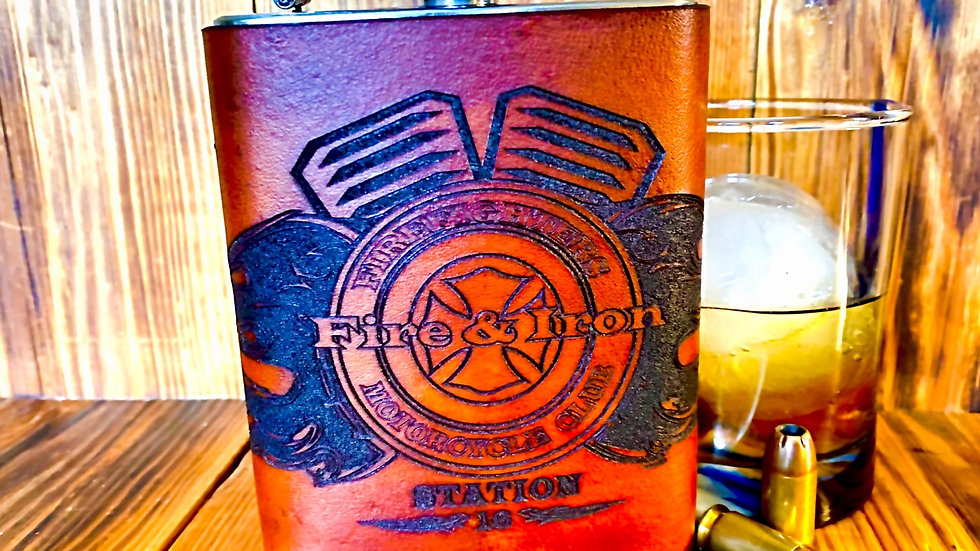 Fire & Iron Whiskey Flask