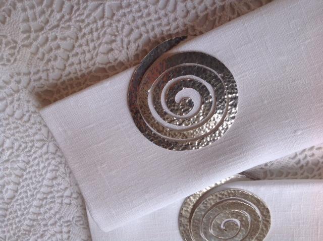 servilletero en plata