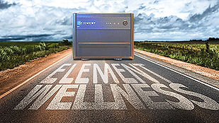 the ELEMENT PEMF machine on a road, on the road to wellness