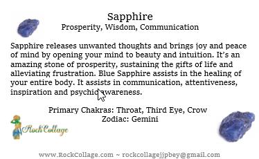 Collage Stone: Sapphire