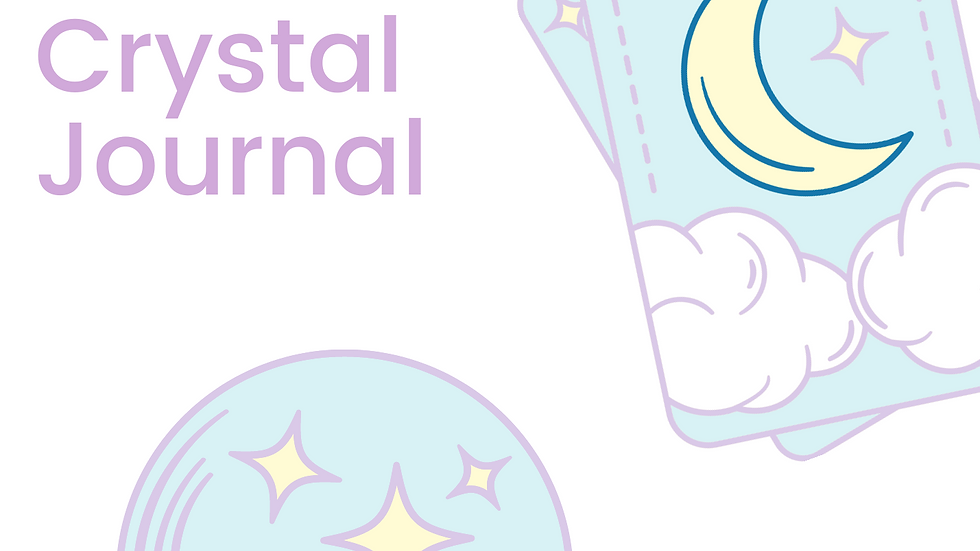 Mental Health Crystal Journal