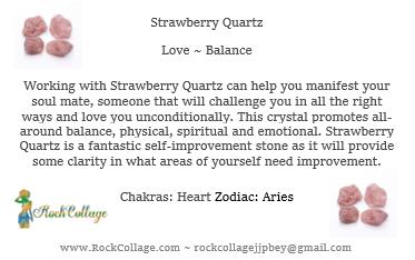 Collage Stone: Strawberry Quartz