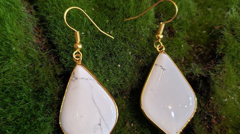 Howlite  Dangle Earrings