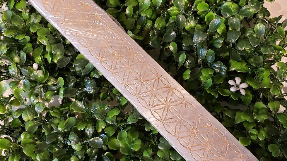 Selenite (gold flower life) Incense Holder