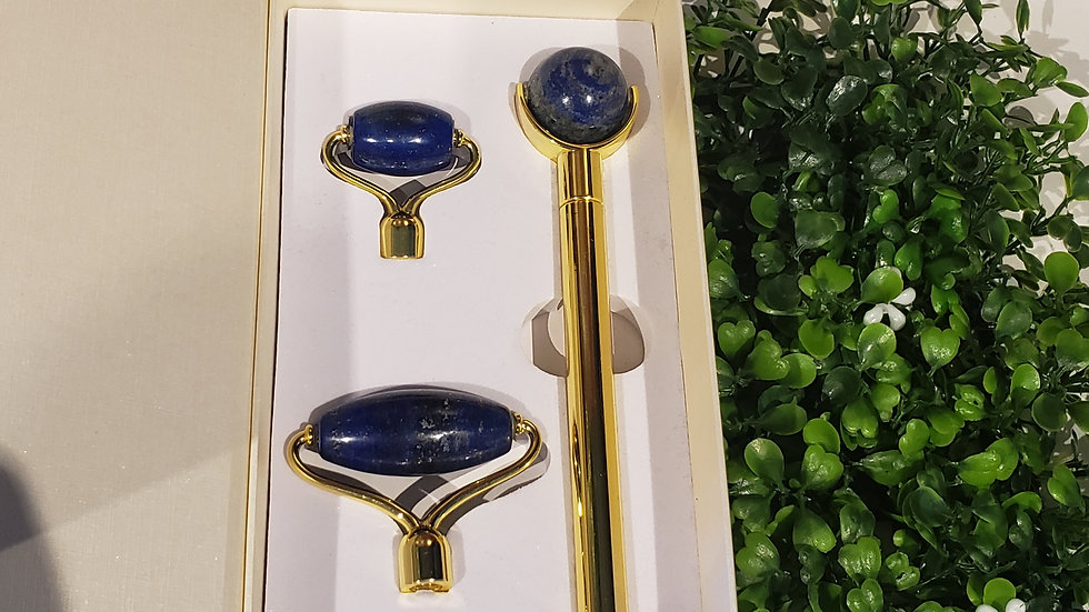 Lapis Lazuli Massage Roller Set