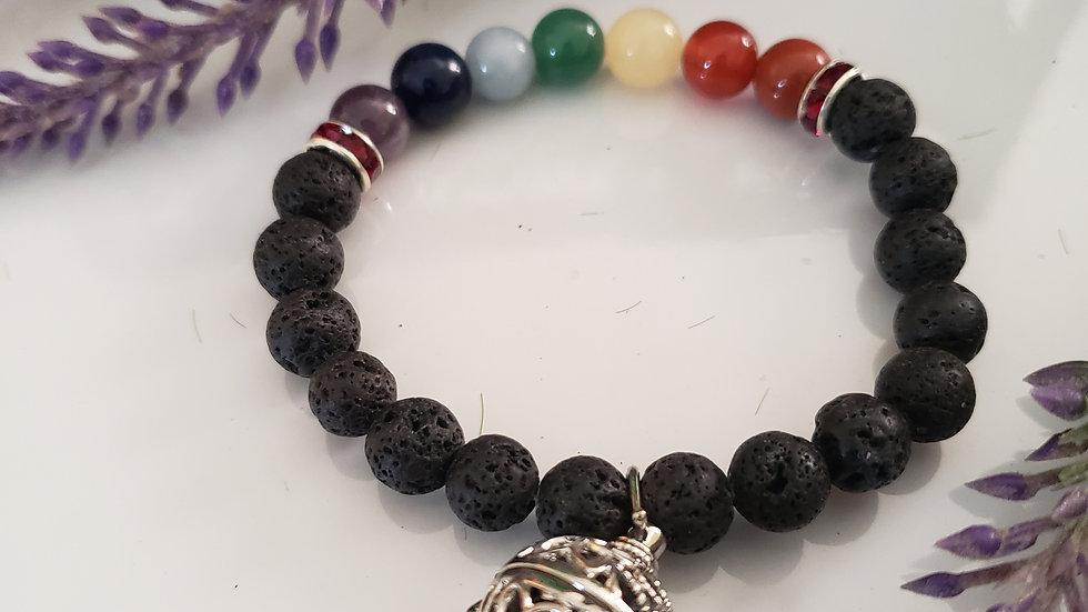 Chakra Aroma Therapy Crystal Bracelet