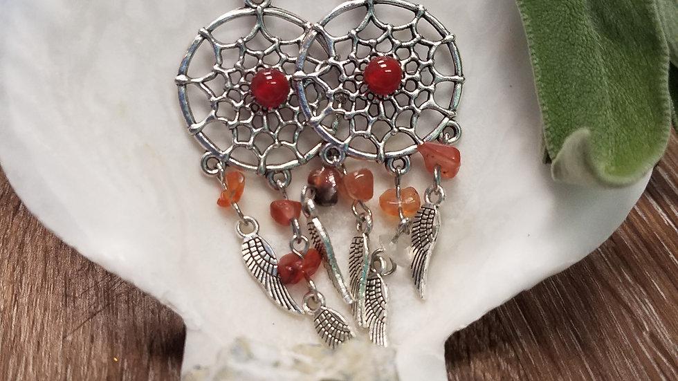 Dream Catcher Stone Earrings