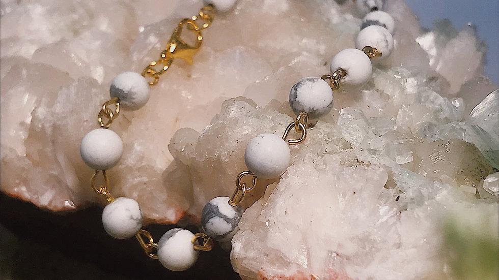 Howlite Chain Bracelet
