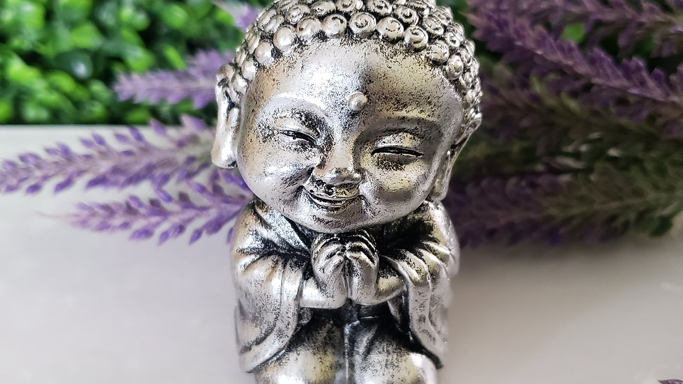 Silver Baby Buddha