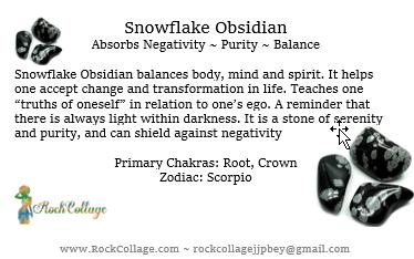 Collage Stone: Snowflake Obsidian
