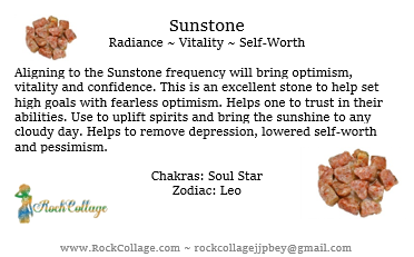 Collage Stone: Sunstone