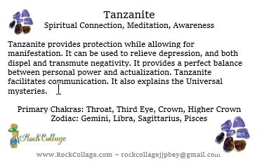 Collage Crystal: Tanzanite
