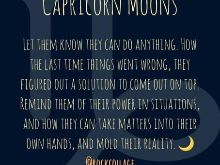 Capricorn Moon Signs
