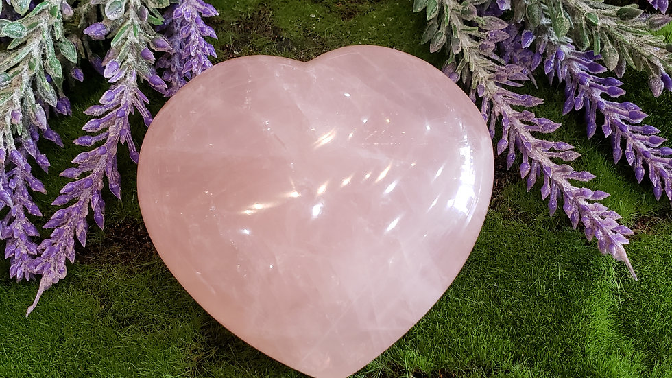 Rose Quartz Large Heart