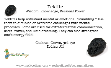 Collage Stone: Tektite (from Out of Space)