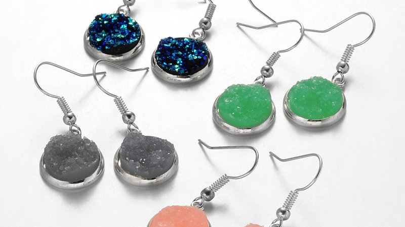 Druzy Quartz Earrings