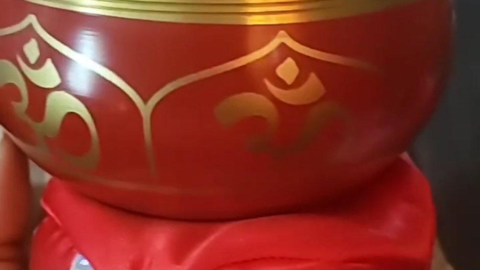 Red / Burgundy Tibetan Singing Bowl