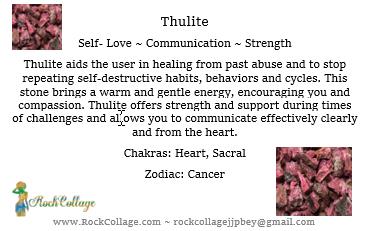 Collage Stone: Thulite