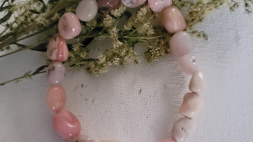 Pink Opal Nugget Bracelet