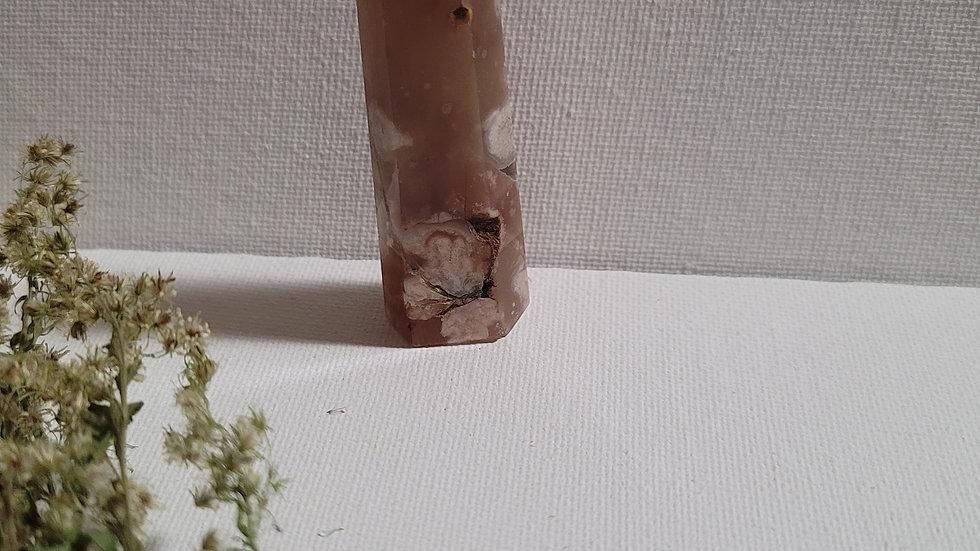 Flower Agate Obelisk