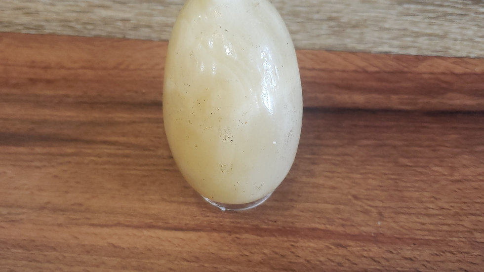 Large Yellow Calcite Egg