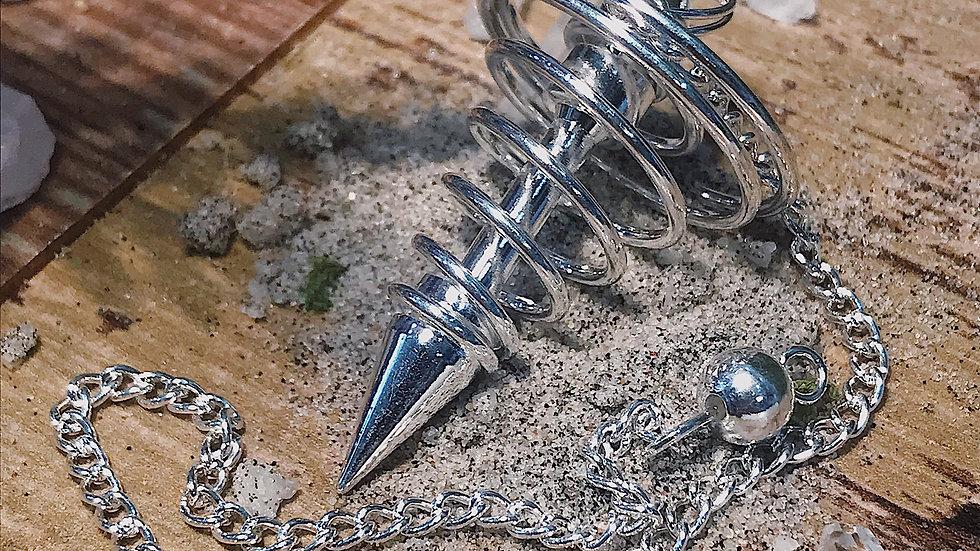 Silver Spiral Pendulum