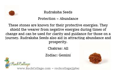 Collage Stones: Rudraksha Seeds