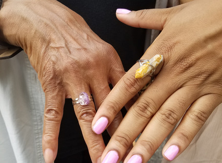 Mother Daughter Crystal Ring Power!