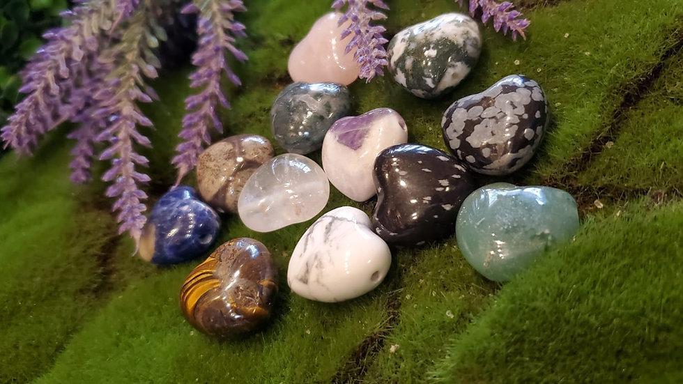 Crystal Heart Palm Stone