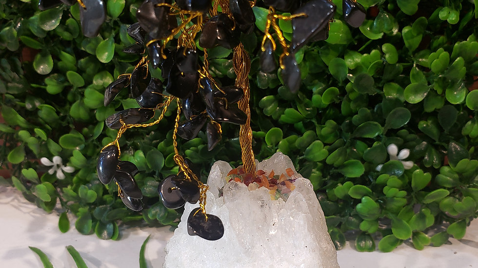 Black Tourmaline Stone Tree
