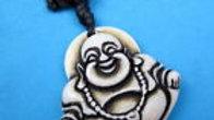 Buddhist Buddha Maitreya Yak Bone Pendant Necklace