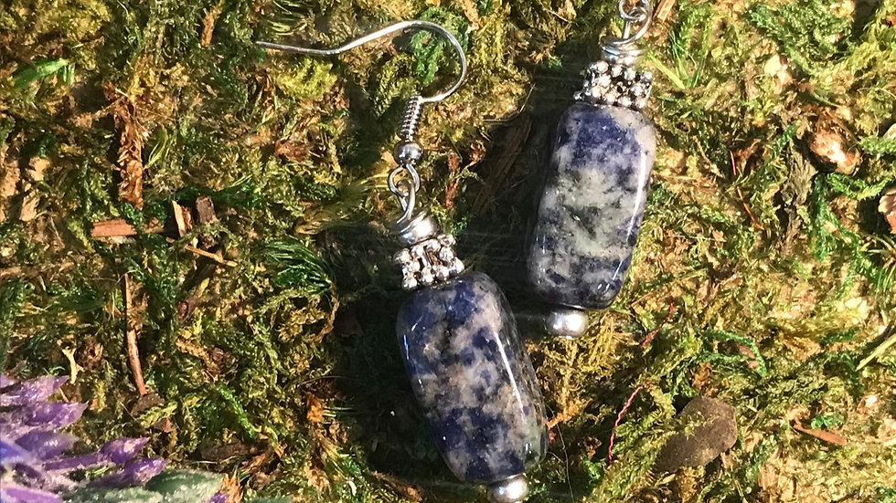 Sodalite Danging Earrings