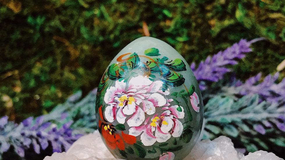 Painted Jade Egg (Decorative)