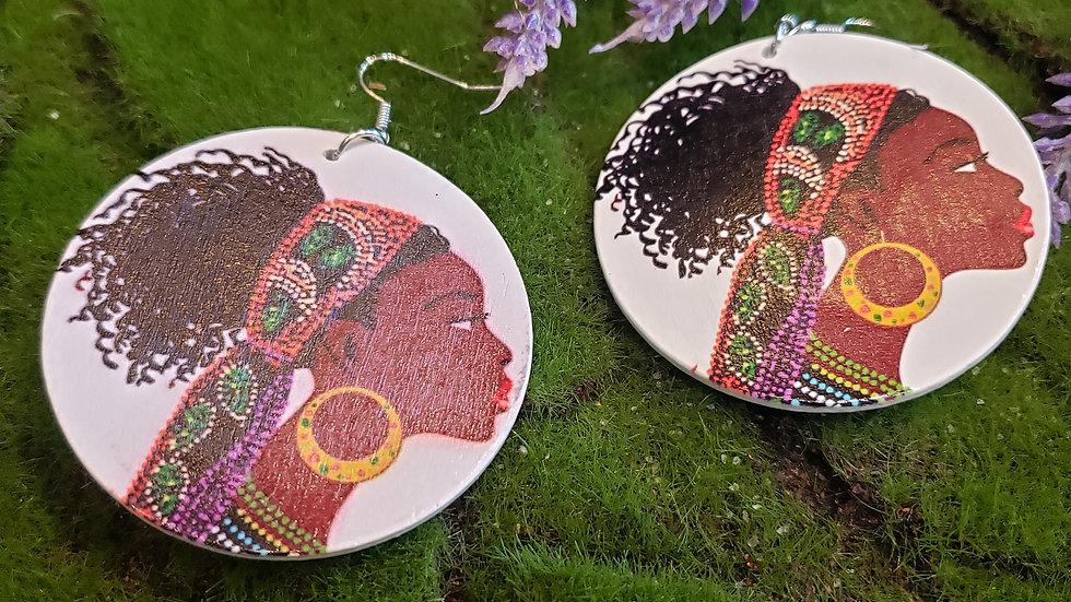 Afro Lady Earrings 3