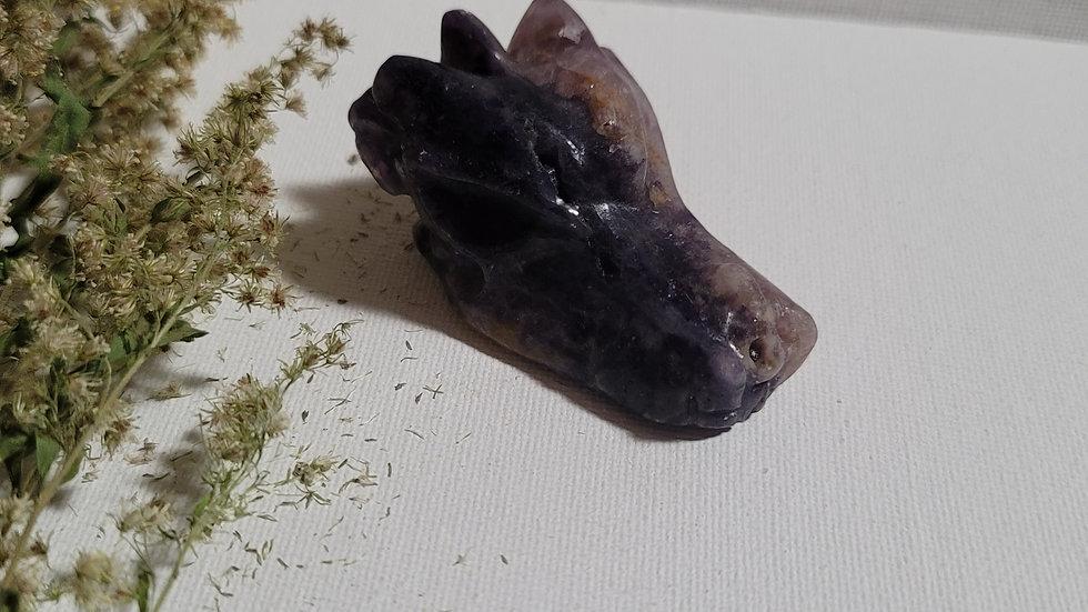Fluorite Dragon Head